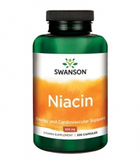 SWANSON Niacin 500mg. / 250 Caps.