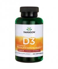 SWANSON Vitamin D-3 / Highest Potency 5000IU / 250 Soft