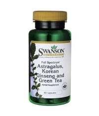 SWANSON Full Spectrum Astragalus, Korean Ginseng & Green Tea / 60 Caps