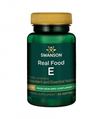 SWANSON Real Food E from Non-GMO Sunflower Oil 400IU / 60 Soft