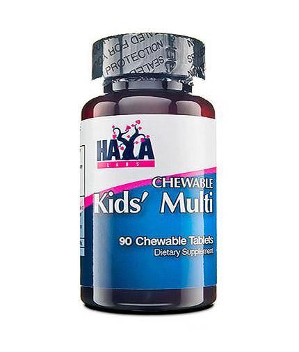HAYA LABS Kids' Chewable Multivitamin 90 Tabs.