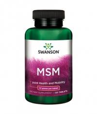 SWANSON MSM 1.5g. / 120 Tabs