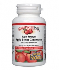 NATURAL FACTORS Super Strength Apple Pectin Concentrate / 90Vcaps
