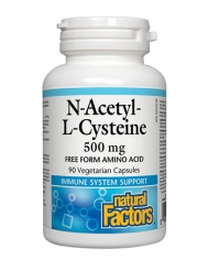 NATURAL FACTORS N-Acetyl L-Cysteine 500mg / 90 Vcaps