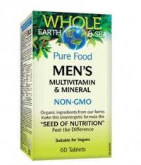 NATURAL FACTORS Whole Earth & Sea Men's Multivitamin & Mineral / 60 Tabs
