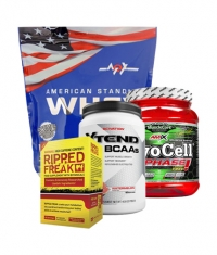 PROMO STACK MEX American Standard Whey / Amix Myocell / Scivation Xtend / Pharma Freak Ripped Freak