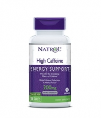 NATROL High Caffeine 200 mg. / 100 Tabs.