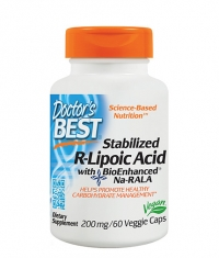 DOCTOR\'S BEST Stabilized R-Alpha-Lipoic Acid 200mg. / 60 Vcaps.