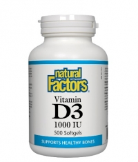NATURAL FACTORS Vitamin D3 1000 IU / 500 Softgels