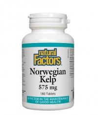 NATURAL FACTORS Norwegian Kelp 575mg. / 180 Tabs.