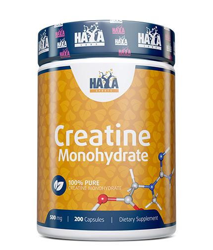 HAYA LABS Sports Creatine Monohydrate 500mg / 200 Caps.