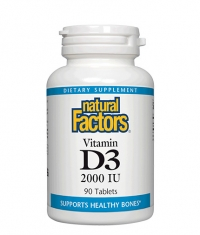 NATURAL FACTORS Vitamin D3 2000 IU / 90 Tabs