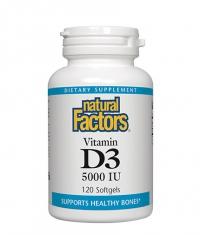NATURAL FACTORS Vitamin D3 5000 IU / 120 Vcaps
