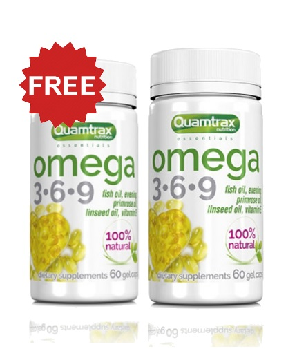 promo-stack QUAMTRAX Omega 3-6-9 1+1 FREE Stack EXP:31/06/2019