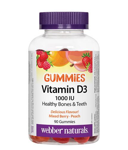 webber-naturals Vitamin D3 Gummies 1000 IU / 90 Gummies