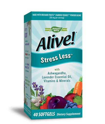 natures-way Alive Stress Less / 40 Softgels