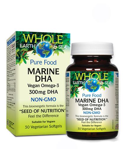 natural-factors Marine DHA Vegan omega-3 300mg / 30 Softgels