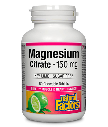 natural-factors Magnesium Citrate 150mg / 60 Chew Tabs