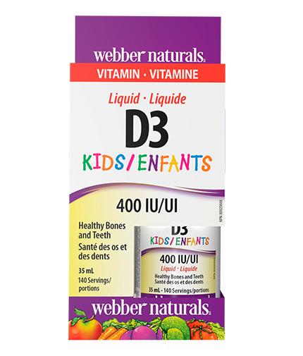 webber-naturals Liquid Vitamin D3 for Kids / 35ml