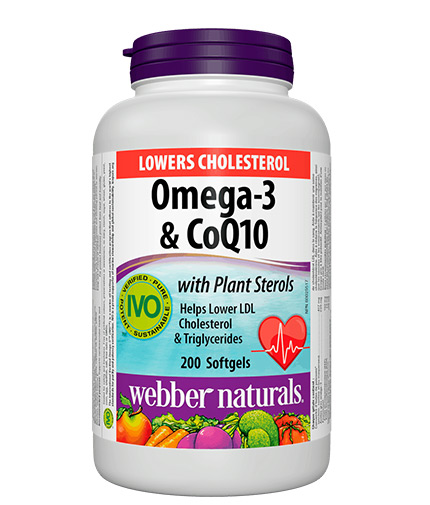webber-naturals Lowers Cholesterol Omega-3 & CoQ10 / 200 Softgels