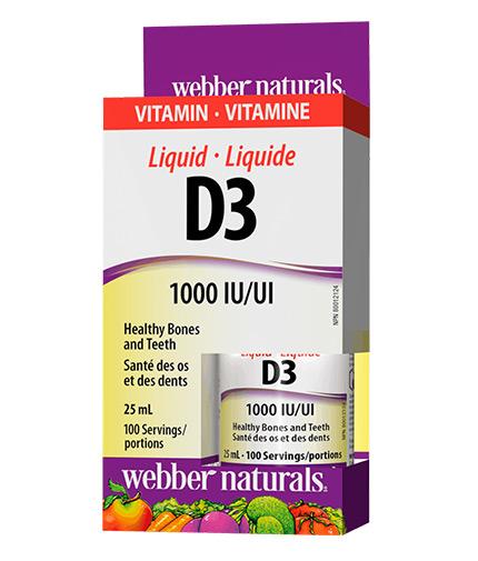 webber-naturals Liquid Vitamin D3 1000 IU / 25ml