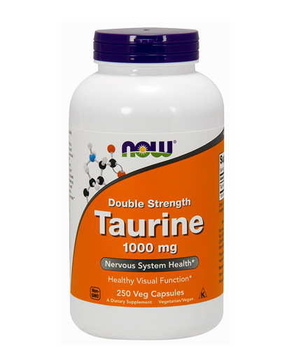 now Taurine 1000mg / 250 Vcaps
