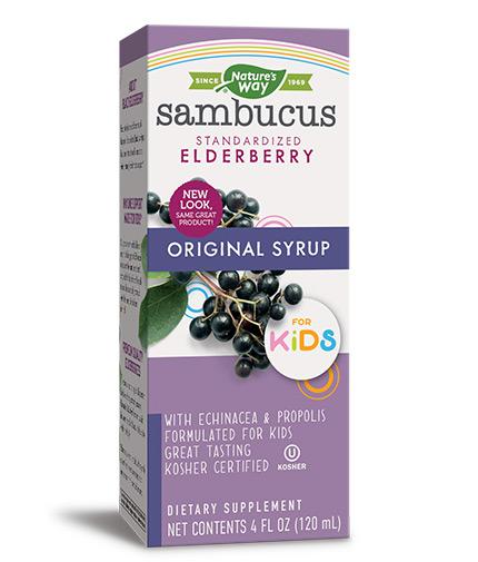 NATURES WAY Sambucus for Kids Original Syrop/ 120ml