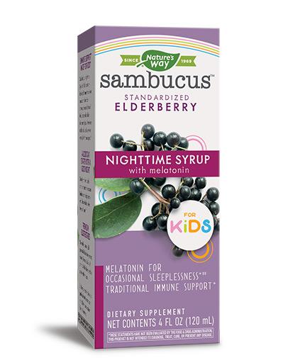 natures-way Sambucus for Kids Night Time Syrop / 120ml.