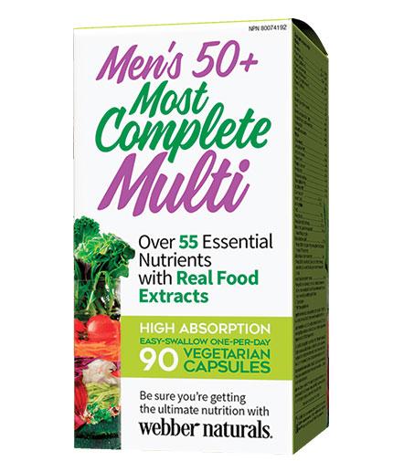 webber-naturals Men's 50+ Most Complete Multi / 90 Vcaps