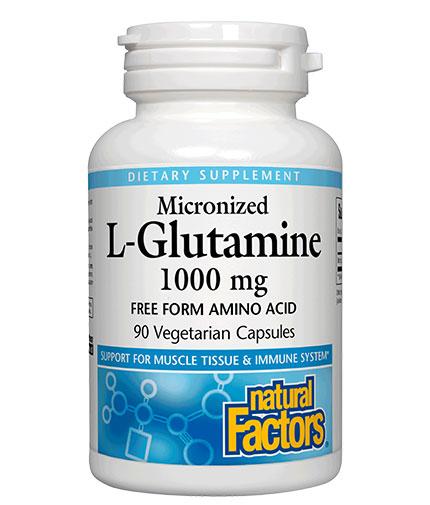 natural-factors Micronized L-Glutamine / 90Vcaps