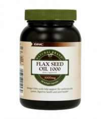 GNC Natural Brand Flax Seed Oil 1000 mg. / 90 Caps.