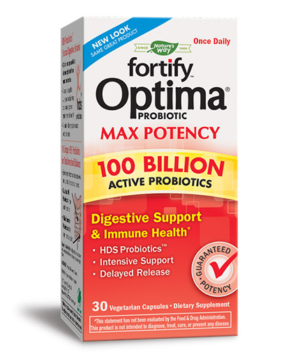 natures-way Fortify Optima Max Potency 100 Billion Probiotic / 30 Vcaps