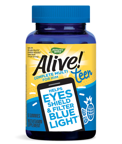 natures-way Alive! Teen Gummy Multivitamin for Him / 50 Gummies