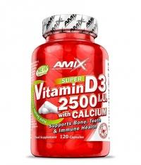 AMIX Vitamin D3 2500 IU with Calcium 250mg / 120 Caps