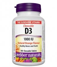 WEBBER NATURALS Vitamin D3 1000 IU / 180 Chews