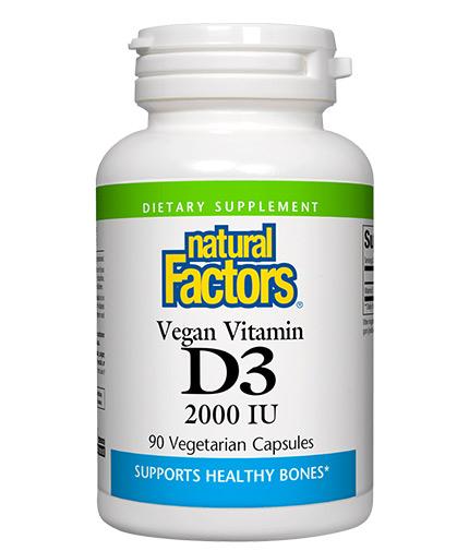 natural-factors Vegan Vitamin D3 2000 IU / 90 Vcaps