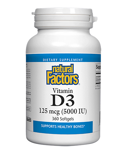 natural-factors Vitamin D3 5000 / 360 Softgels