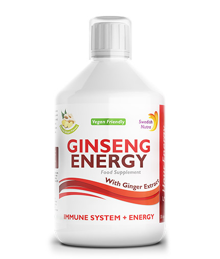 swedish-nutra Ginseng for fast energy 2000mg - with ginger extract / 500ml