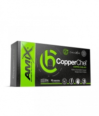 AMIX ChelaZone® CopperChel® Copper Bisglycinate Chelate / 90 Vcaps