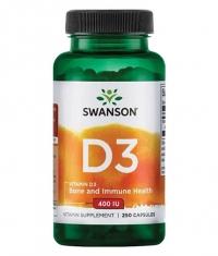 SWANSON Vitamin D-3 400IU / 250 Caps