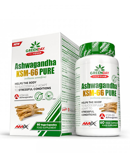 AMIX ProVegan Ashwagandha KMS-66 Pure / 60 Vcaps