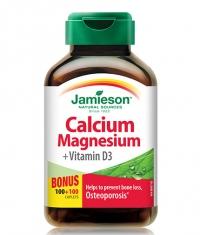 JAMIESON Calcium Magnesium with Vitamin D / 200 Caps