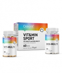 OSTROVIT PHARMA Vit&Min Sport / Vit-Multi and Min-Multi Formula / 2 x 30 Tabs