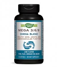 NATURES WAY Mega 3/6/9 Omega Blend / 90 Softgels