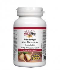 NATURAL FACTORS MacaRich® Organic Maca Concentrate 4: 1 / 90 Caps