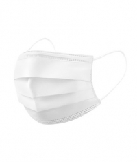 CONSUMATIVES Disposable Mask / White / 50 Pieces