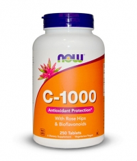 NOW Vitamin C-1000 / Rose Hips / 250 Vegeterian Tabs.