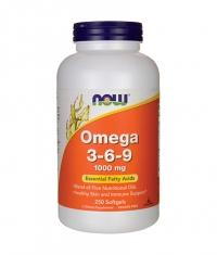 NOW Omega 3-6-9 / 1000mg. / 250 Softgels