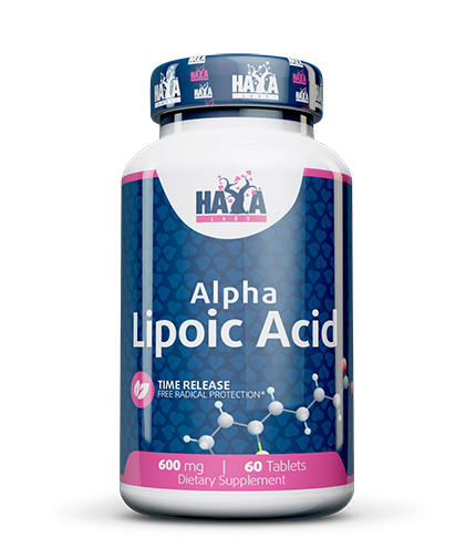 HAYA LABS Alpha Lipoic Acid /Time Release/ 600 mg. / 60 Tabs.