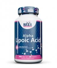 HAYA LABS Alpha Lipoic Acid /Time Release/ 600 mg. / 60 Tabs.
